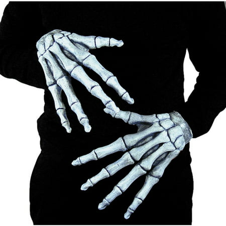 Halloween Adult Ghostly Bones Hands for $<!---->