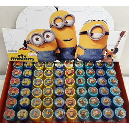 61 PCS Minions Self-inking Stamp Birthday Party Favors Stampers