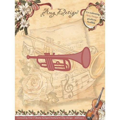 Find It Trading  Amy Design Vintage Christmas Die-Trumpet