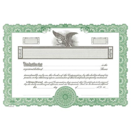 Goes No. KG2 Stock Certificate - Pack of 100