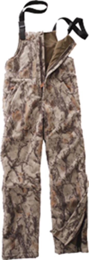 Natural Gear Fleece Windproof Bibs Natural Camo Medium by Natural Gear