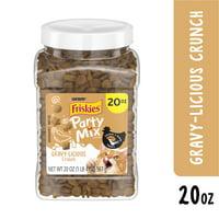 Friskies Cat Treats, Party Mix Crunch Gravylicious Chicken & Gravy Flavors - 20 oz. Canister