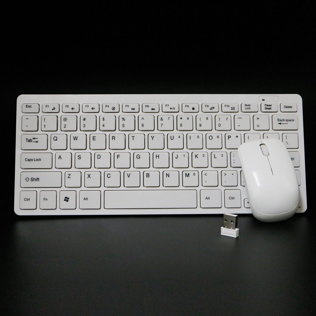 YDL-HK3300 USB 2.4G Mini Wireless Keyboard +1600DPI Mouse MIce Set For PC Computer - White (3 x AAA)