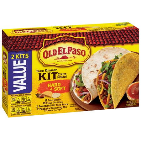 Old El Paso Hard and Soft Taco Dinner Kit, 21.2 oz - Party World El Paso