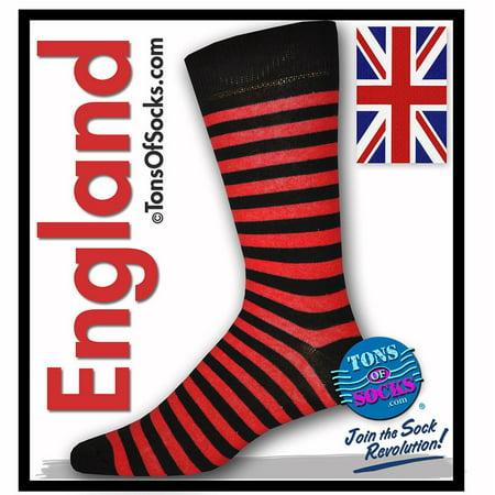 Men's Red & Black Stripe Socks