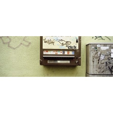 Close-up of a cigarette vending machine Stuttgart Baden-Wurttemberg Germany Canvas Art - Panoramic Images (36 x 13)