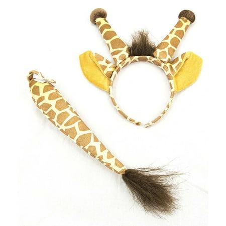 Giraffe Ears & Tail Costume Accessory Set for $<!---->