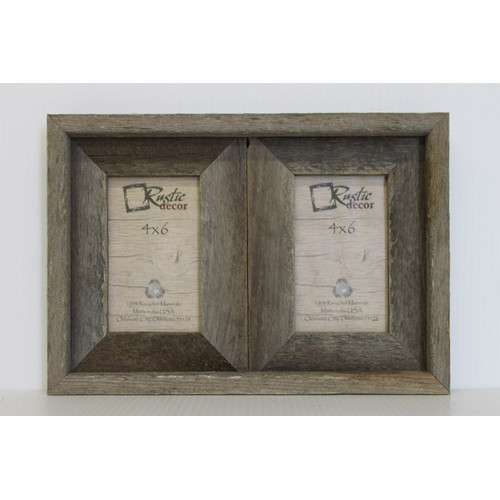 Rustic Decor Barn Wood 2 Opening Picture Frame Walmart Com