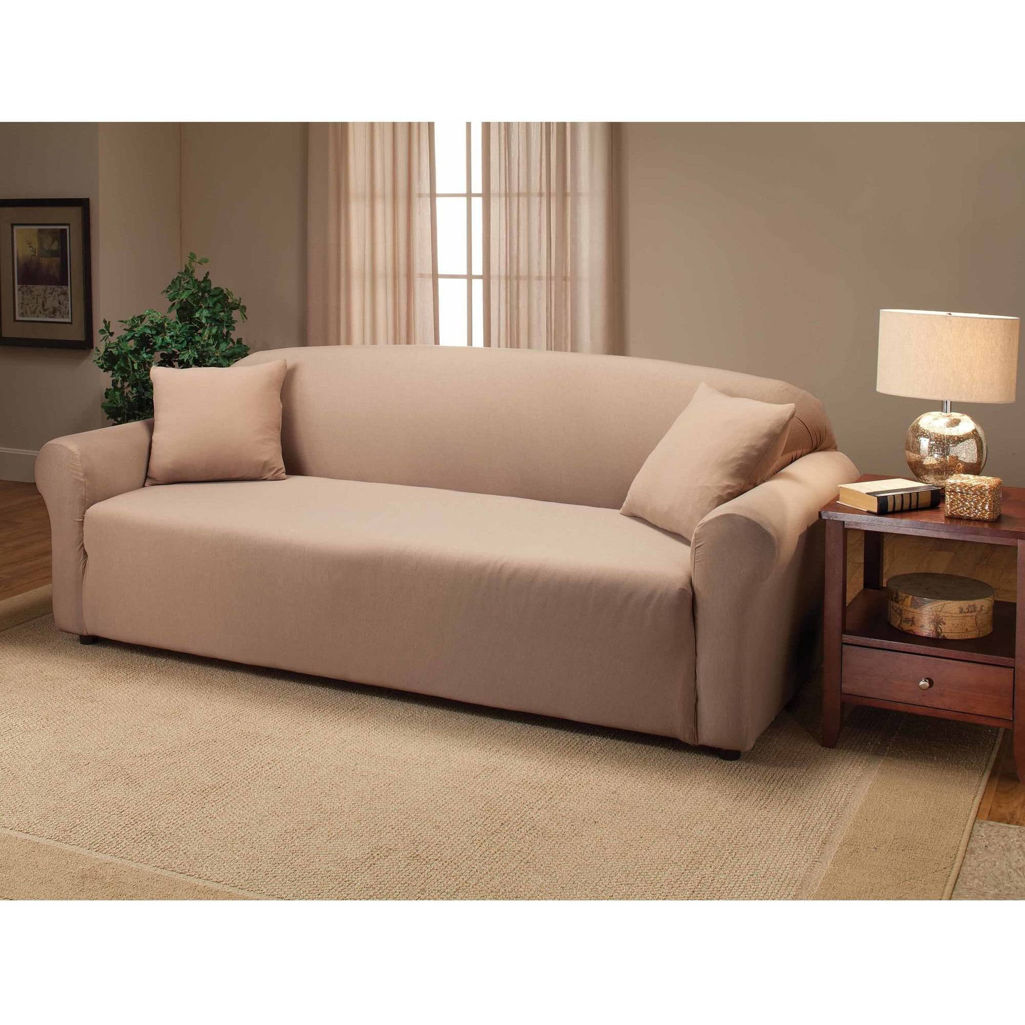 Better homes and gardens one piece stretch fine corduroy for Sofas de piel economicos