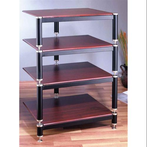 BL Series Audio Rack (Black w Oak Shelf)