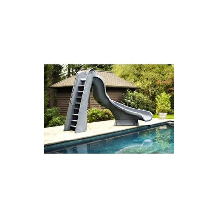 S.R. Smith 68820958224 Turbo Twister Pool Slide Complete Curve Left Gray