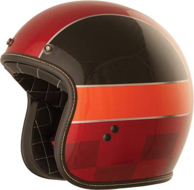 Fly Racing .38 Solid Mens Open-Face Street Motorcycle Helmet Black//Medium