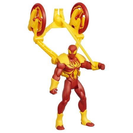 Iron Spider-Man with Web Catapult, Incredible figure comes armed with a catapult By SpiderMan Ship from US