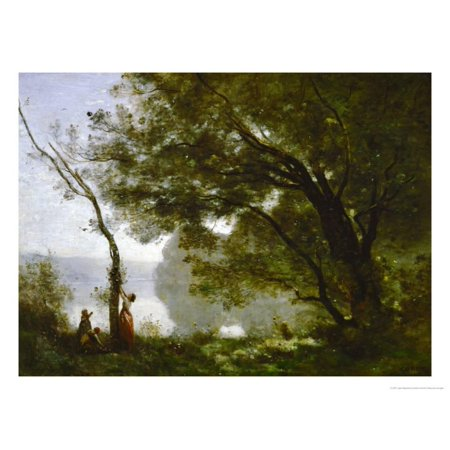 Memory of Mortefontaine, France, 1864 Print Wall Art By Jean-Baptiste-Camille
