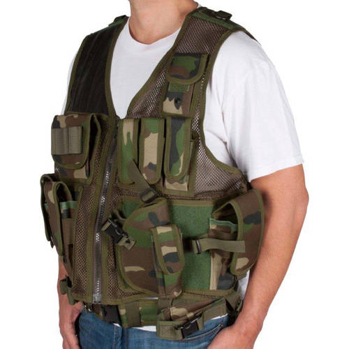 Adjustable Tactical Military and Hunting Vest By Modern Warrior (Camouflage)