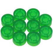 Yibuy 10 Pieces 24.4x12mm Plastic Green Electric Guitar Effect Pedal Knobs Cap Musical Instrument Accessory