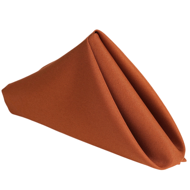 """Efavormart Wholesale 25 Premium 17"""" x 17"""" Washable Polyester Napkins Great for Wedding Party Restaurant Dinner Parties"""