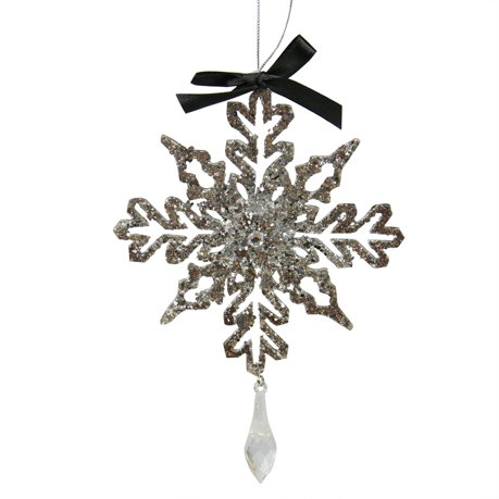 7 silver glitter drenched snowflake with key hole tips christmas 7 silver glitter drenched snowflake with key hole tips christmas pendant ornament aloadofball Choice Image
