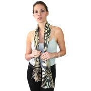 NYFASHION101 Women's Versatile Animal Print Inpired Sheer Headwrap Scarf - 8027TP