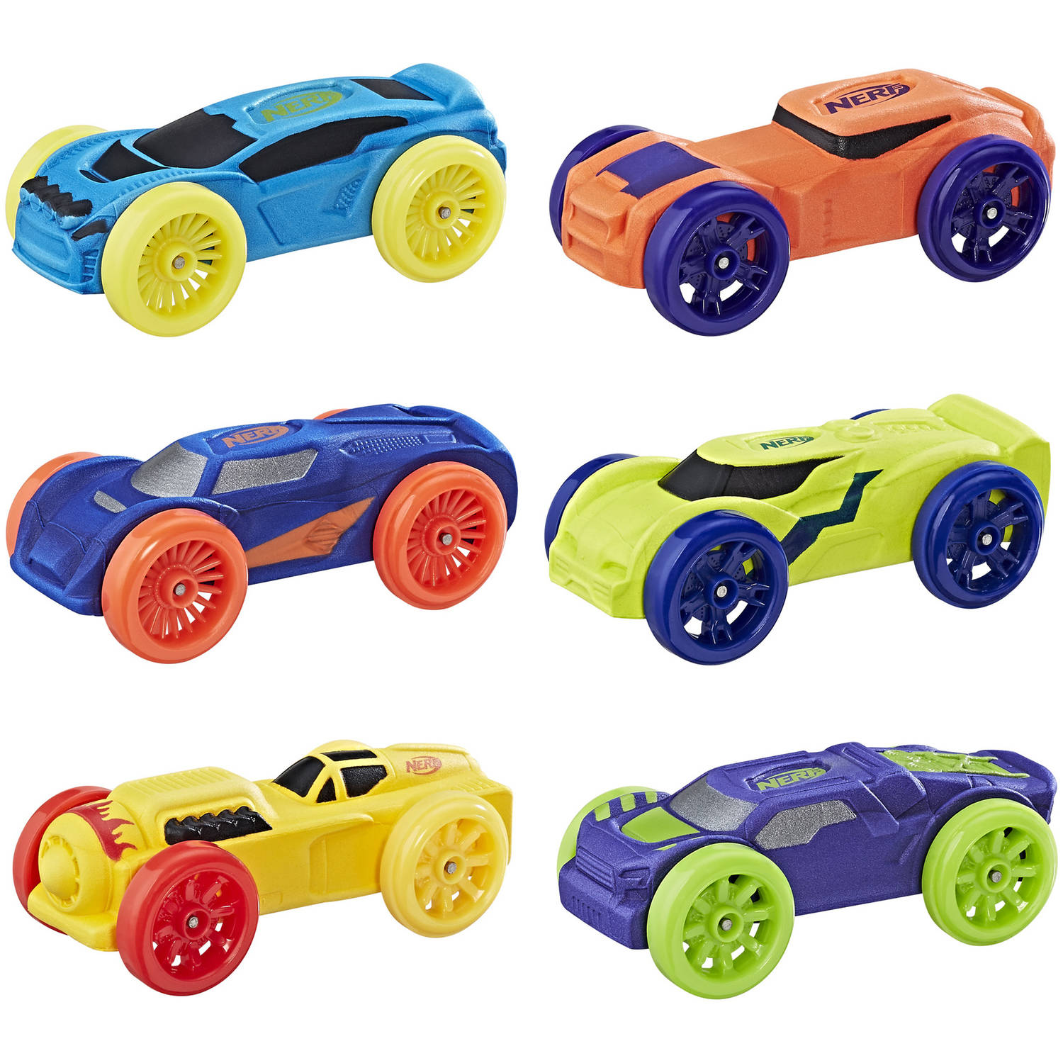 Nerf Nitro Foam Car 6-Pack (Version 2) by Hasbro Inc