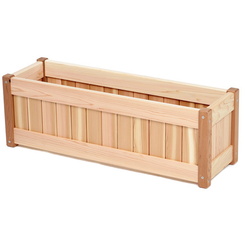 all things cedar western red cedar planter box