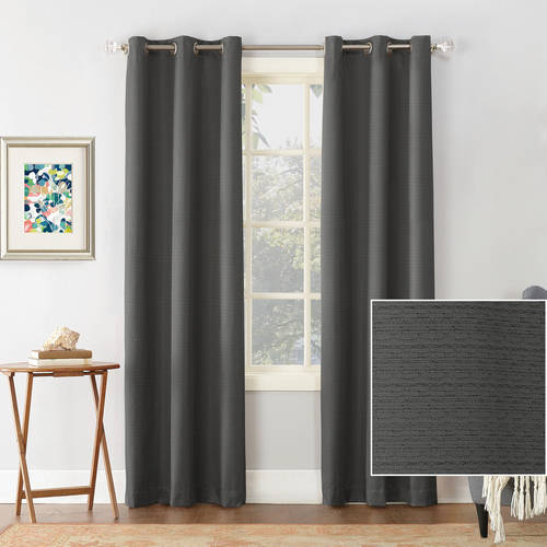 Sun Zero Cooper Textured Thermal-Lined Blackout Energy-Efficient Grommet Curtain Panel by Generic