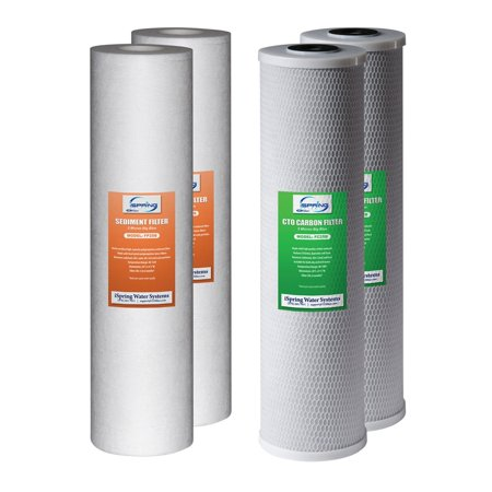 iSpring F4WGB22B Replacement Water Filters for 2-Stage 20