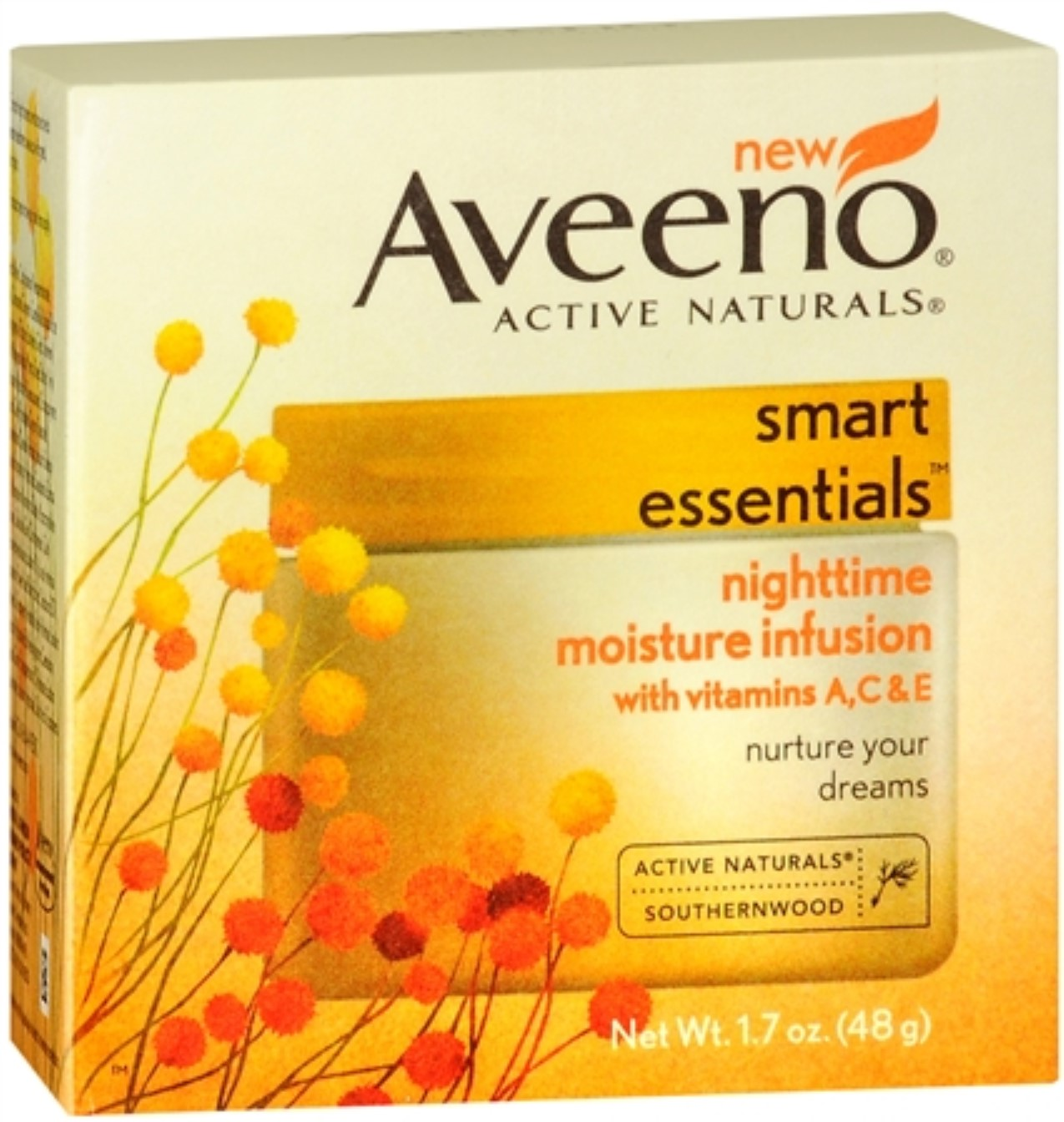 Aveeno Smart Essentials Nighttime Moisture Infusion, 1.7 oz