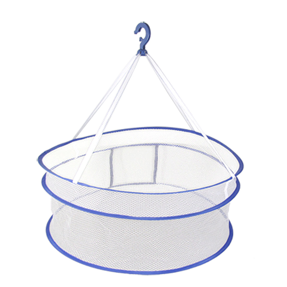 White Netty Hanging Clothes Dryer Basket Holder Blue - image 1 of 1