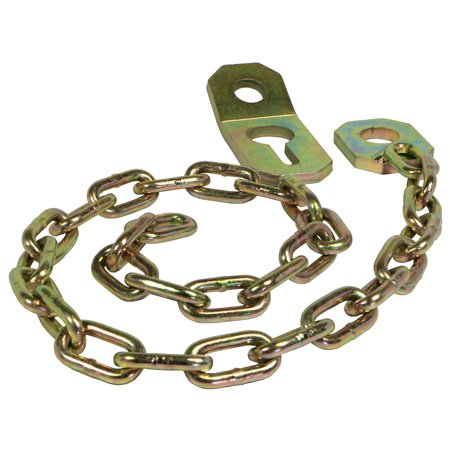 RanchEx Stay Chain Assembly, Cat. 1 The RanchEx stay chain assembly fits Category 1 pins. Fastens to the top link pin on the tractor and to the lift arm pin on the equipment. Requires two per tractor. Built to last with yellow zinc dichromate plating for a corrosion resistant barrier. You can trust RanchEx to provide durability and reliability for all your farm, ranch, and home and garden needs.