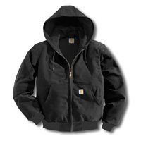 Carhartt Large Tall Black Thermal Lined 12 Ounce Cotton D...