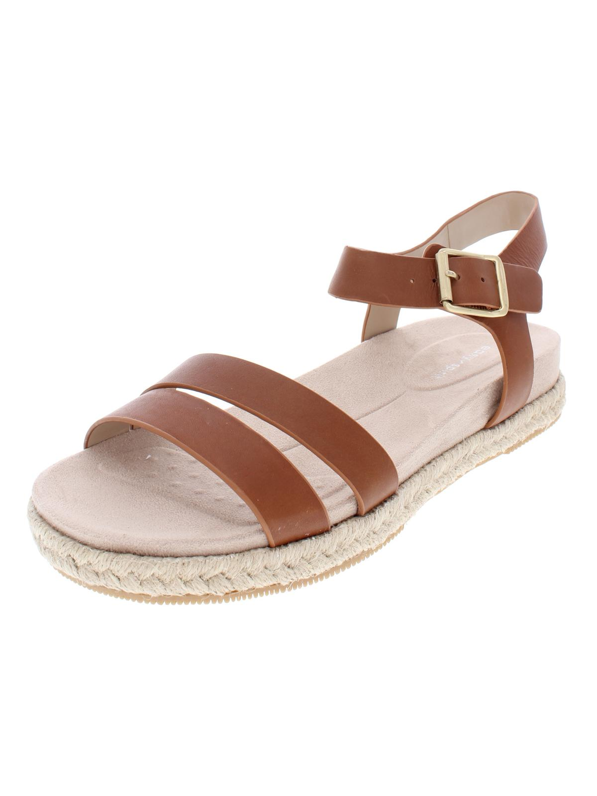 Easy Spirit Womens Ixia Solid Leather Espadrilles