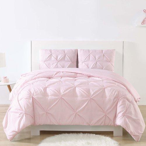 Harriet Bee Dunson Kids Gingham Pinch Pleat Comforter Set