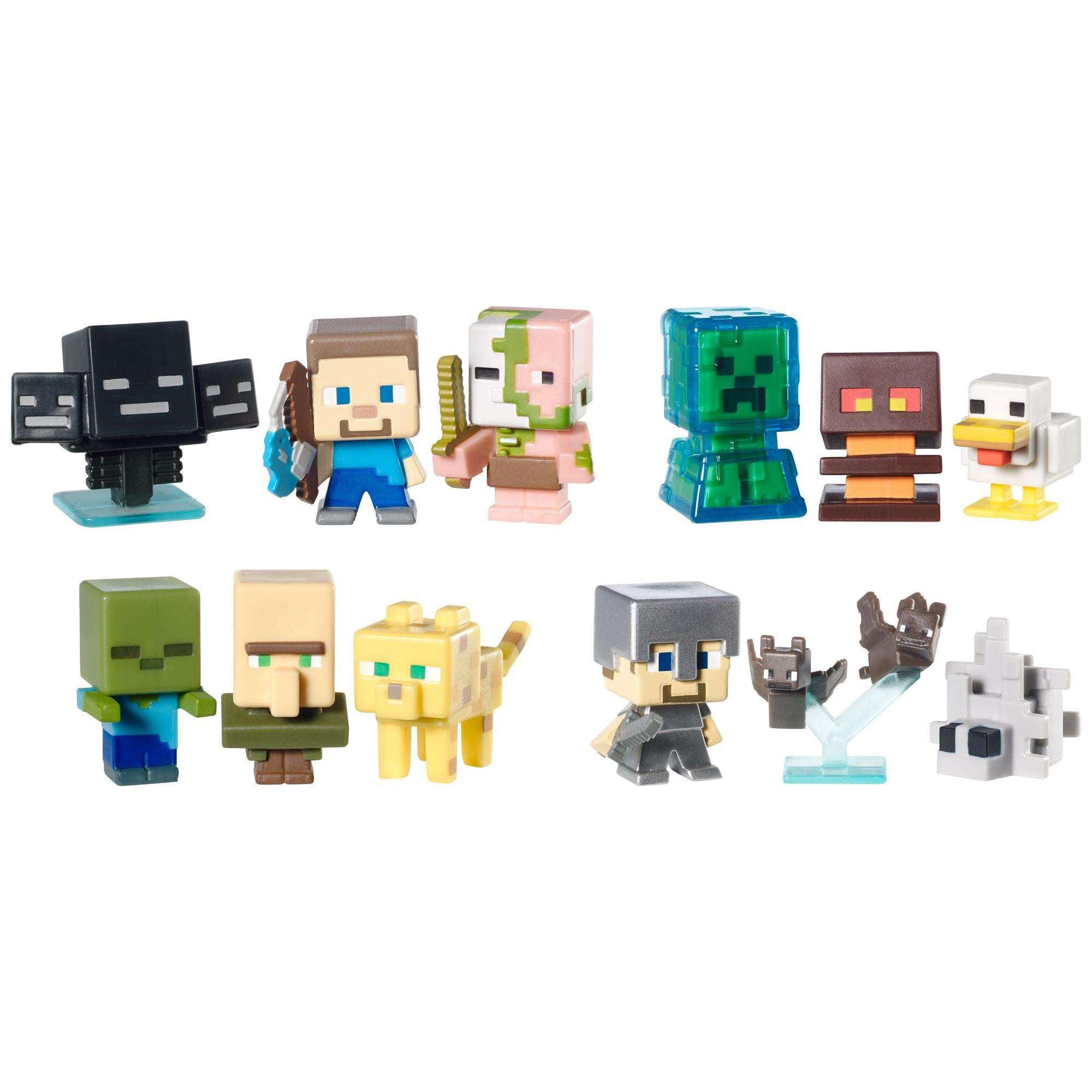Minecraft Mini-Figure, 3-Pack Assortment by Funtastic