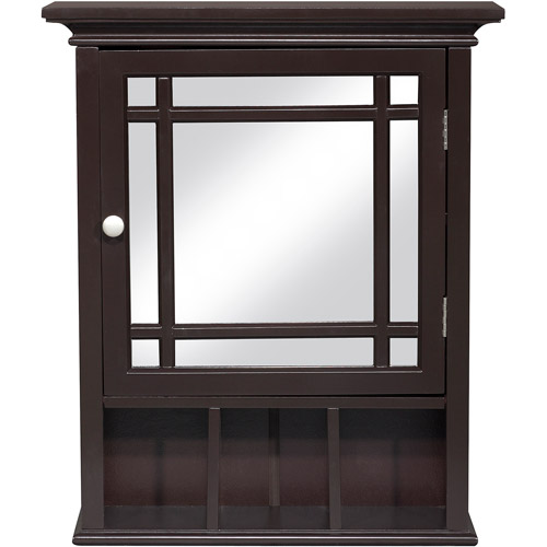 Elegant Home Fashions Heritage Medicine Cabinet, Dark Espresso