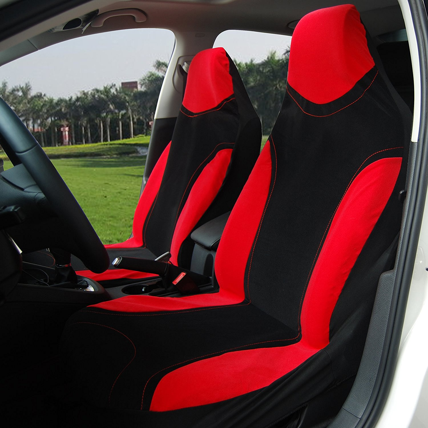 Adeco 2-Piece Car Vehicle Protective Seat Covers