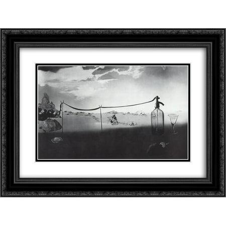 Salvador Dali 2x Matted 24x18 Black Ornate Framed Art Print ...