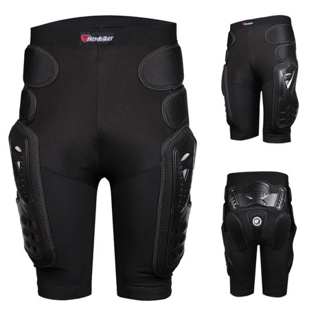 Unisex Motorcycle Motocross Racing Ski Armor Pads Hips Legs Protection Shorts UK (Leg Armor Motorcycle)