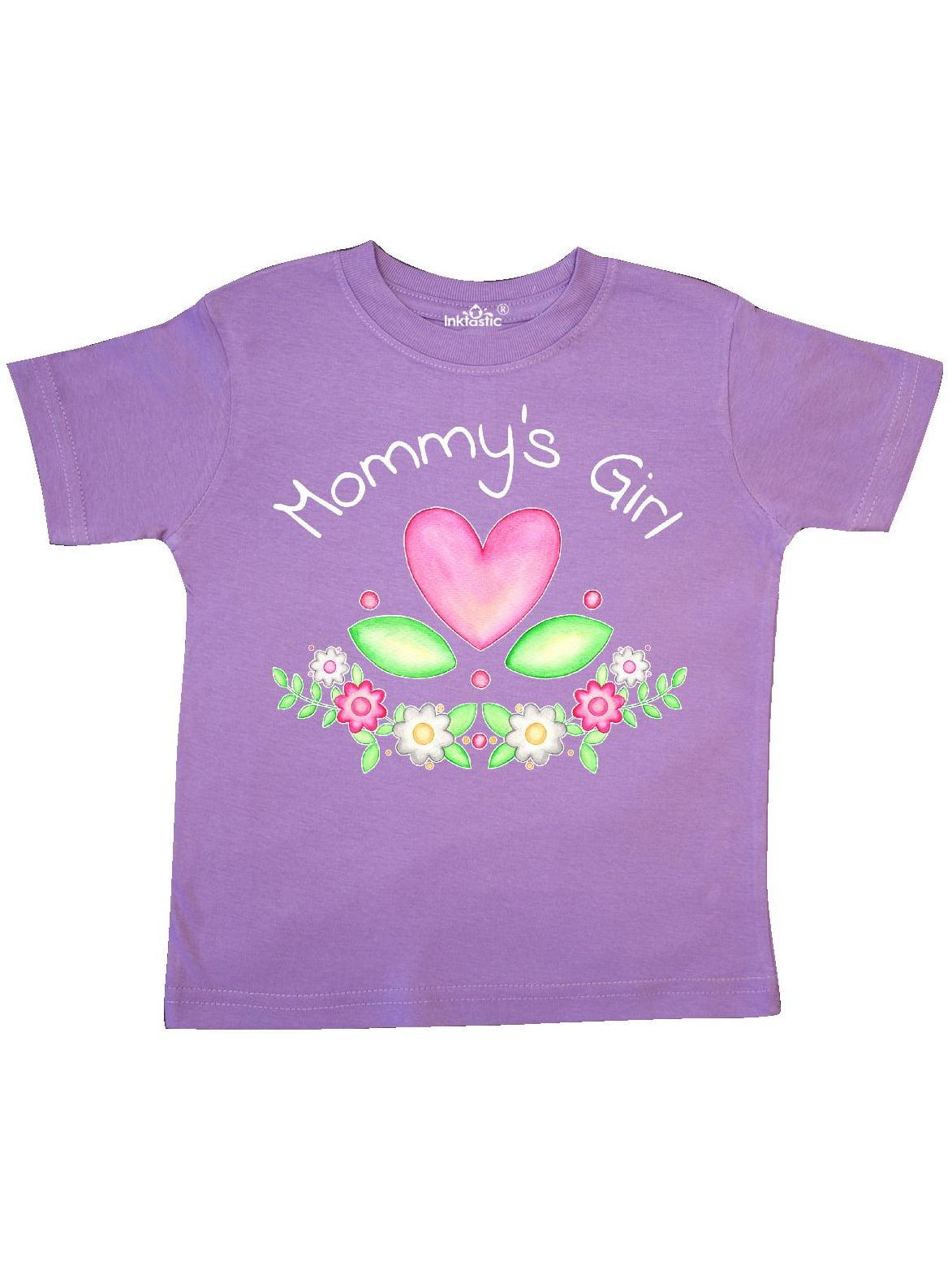 Mommys Girl- heart flowers Toddler T-Shirt