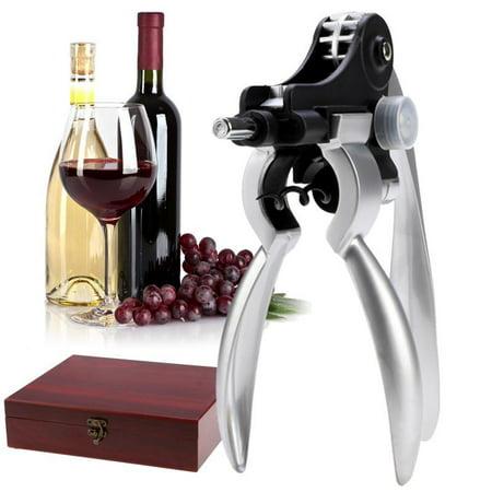 New Wine Bottle Opener Tools 9 Piece Set Corkscrew Stopper Foil Cutters in Mahogany Box 4 Piece Corkscrew Set