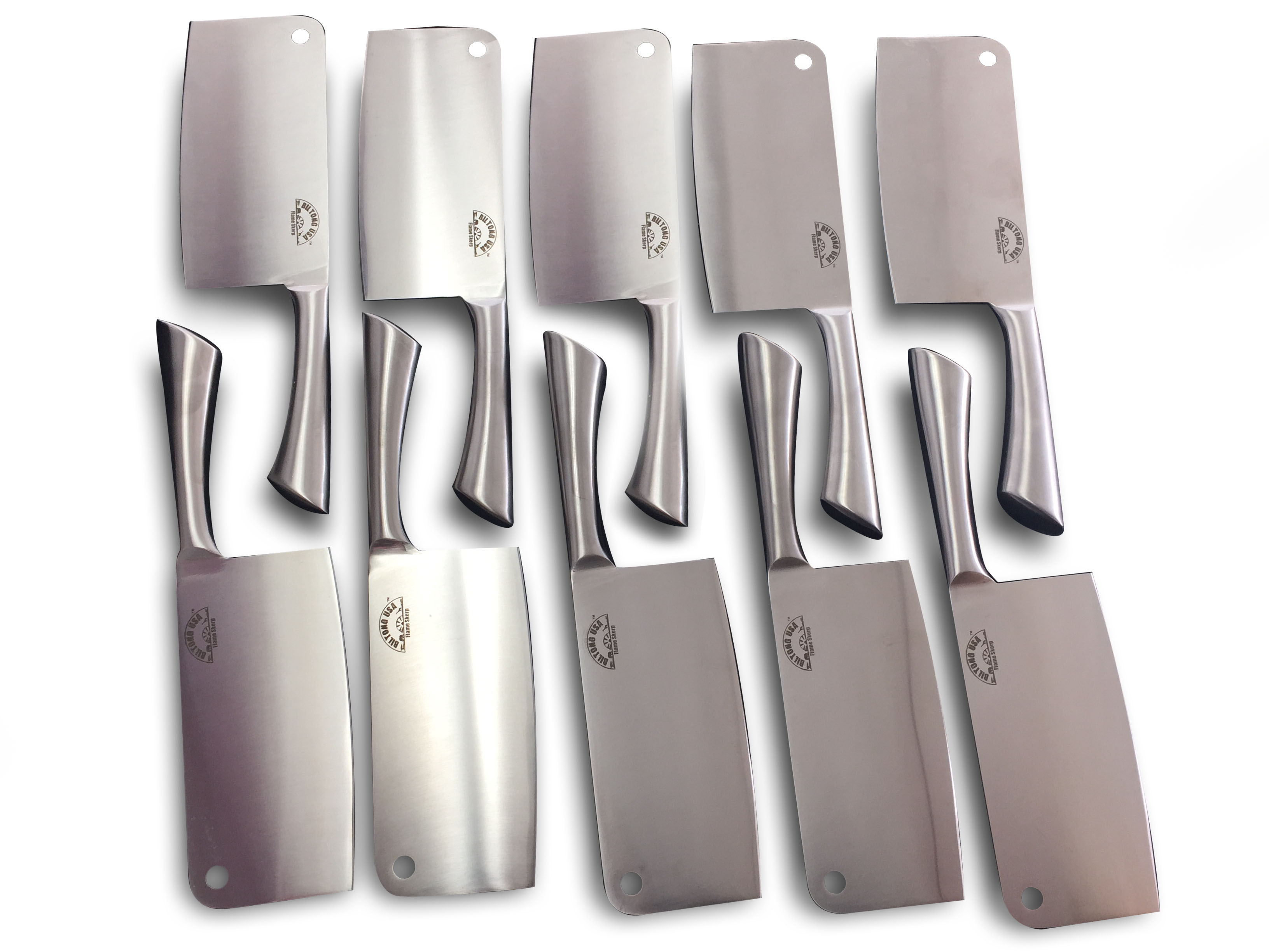 7 inch Chef Butcher Kitchen, Stainless Steel, Cleaver, 10 Pack by