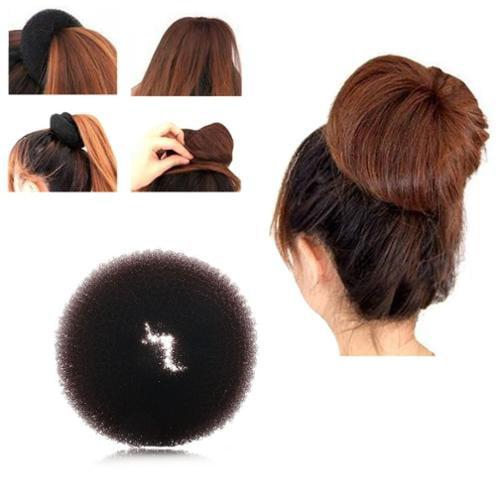 Zodaca Fashion Women Donut Hair Bun up do Ring Shaper Hair Ring Styler Maker Blonde (S) - Brown