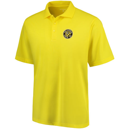 Columbus Crew SC Antigua Pique Desert Dry Xtra-Lite Polo - Yellow