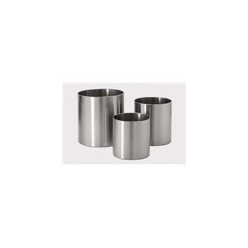 Zack 50530 GRANDE flower pot 8. 67 inch Stainless Steel