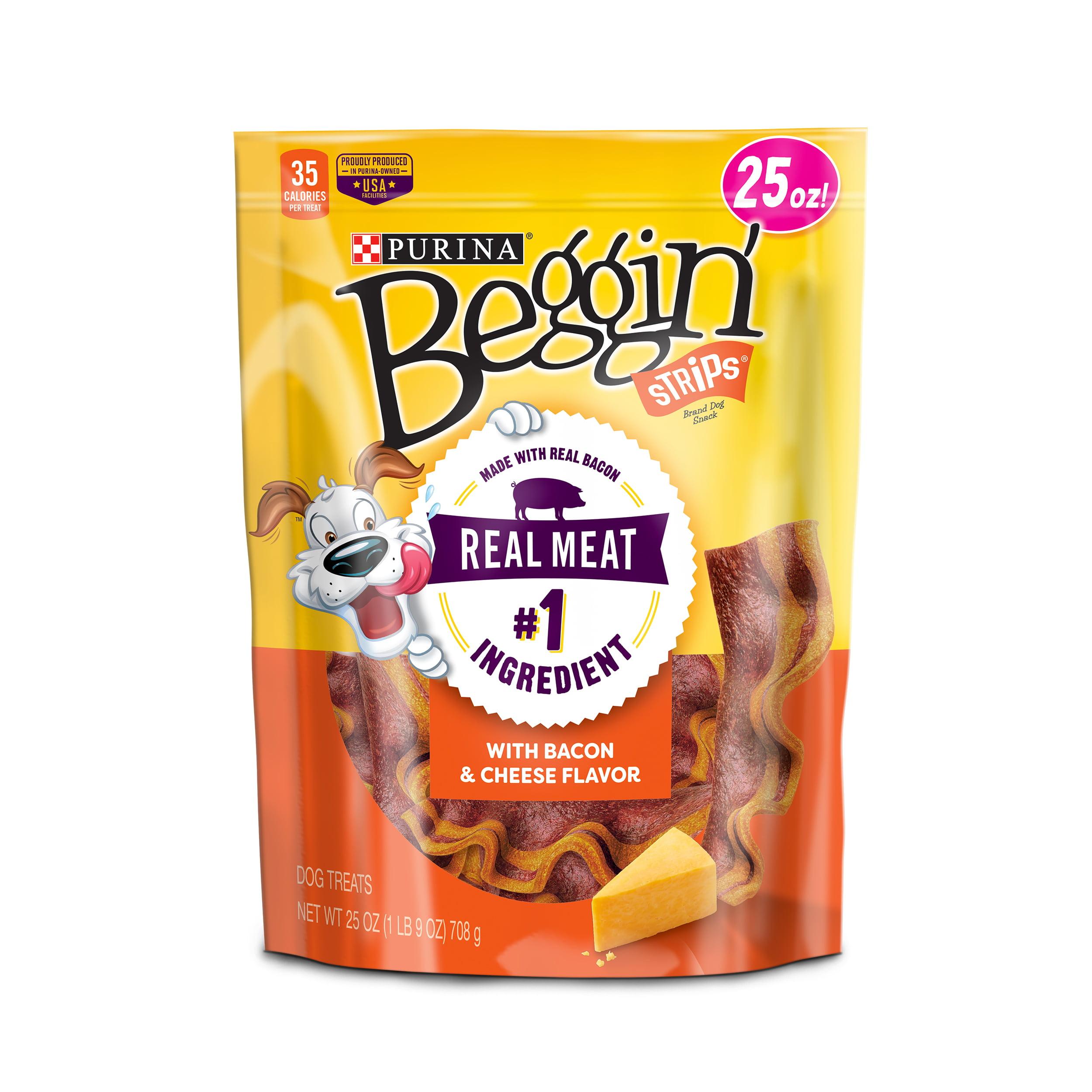 Purina Beggin' Strips Bacon & Cheese Flavors Dog Treats - 25 oz. Pouch