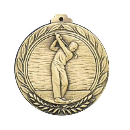 Awards Etc.  AGOLFM GOLF MALE MEDALLION with RIBBON - Pack of 10