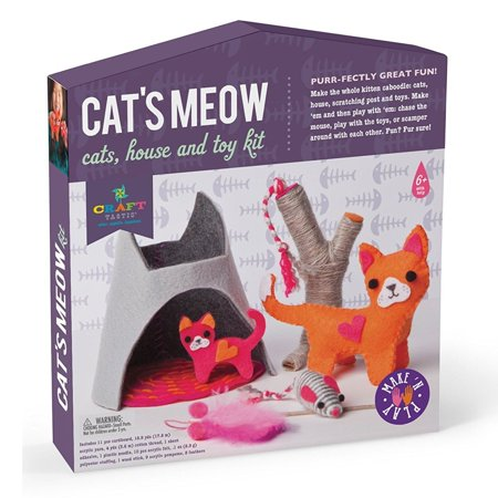 Cat's Meow Make 'n Play Kit (Craft-Tastic) - Craft Kit by Ann Williams