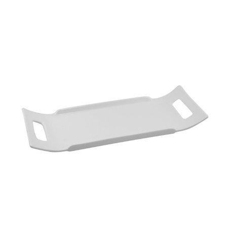 """10 Strawberry Street Whittier 12"""" Handled Platter in White (Set of 2)"""