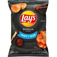 Lay's Barbecue Flavored Potato Chips, Party Size, 12.5 oz Bag