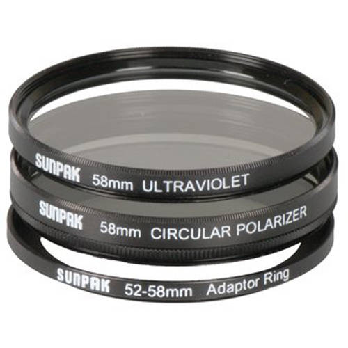 Sunpak 52/58mm UV/CPL Filter Kit